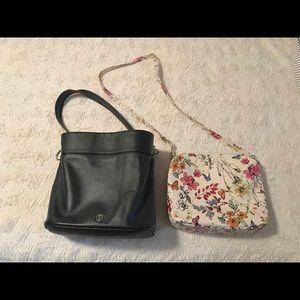 Lightly used Giani Bernini Black bucket purse